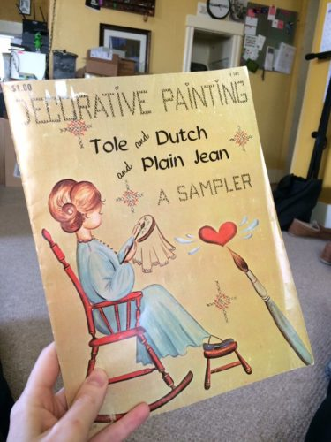 "Pamphlet book titled ""Decorative Painting: Tole and Dutch and Plain Jean, A Sampler"""