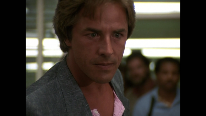 I think if this stare lasted a moment longer, Crockett would have cried