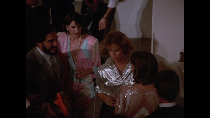 So many great tops and shoulder pads in this shot