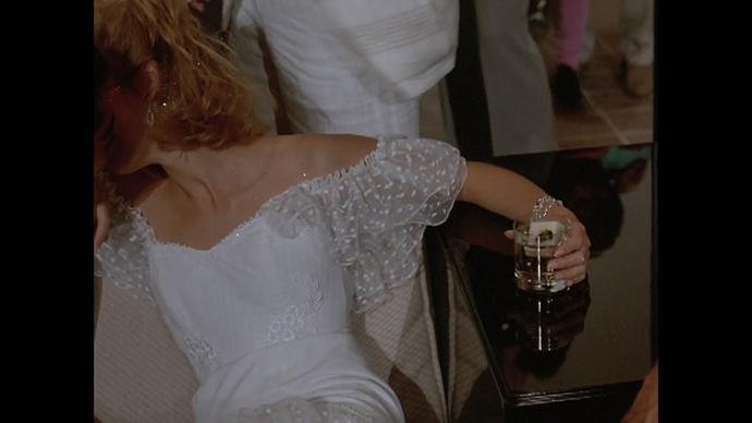 Sandwich cube in drink courtesy of Crockett, dress courtesy of 1985