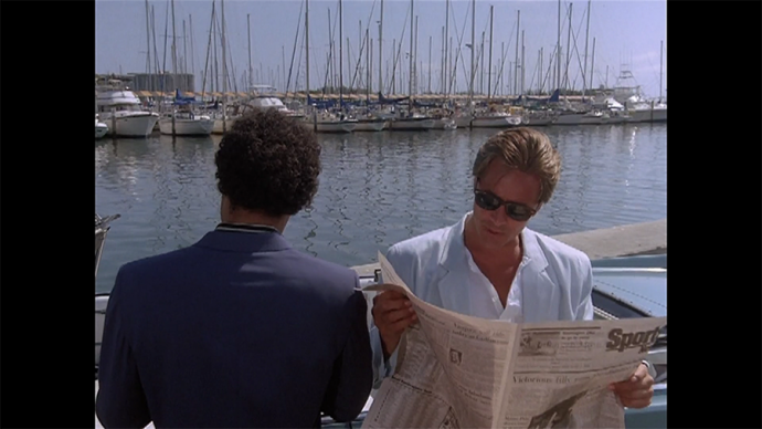 Crockett reads the paper because he's killing time in the same way you look at Twitter, btw