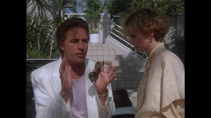 This is, btw, like, the ultimate Crockett outfit