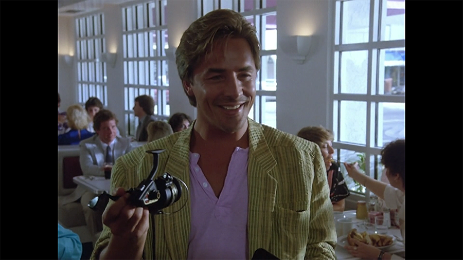 Like, btw, Crockett fishes all the time and probably has several reels he really likes already