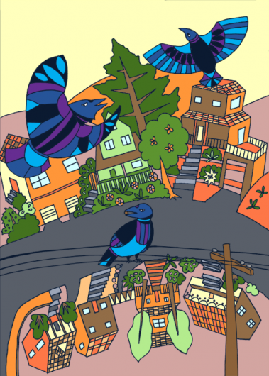 The illustration for a Día de los Reyes card